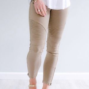 🆕 Khaki Biker Motto Leggings
